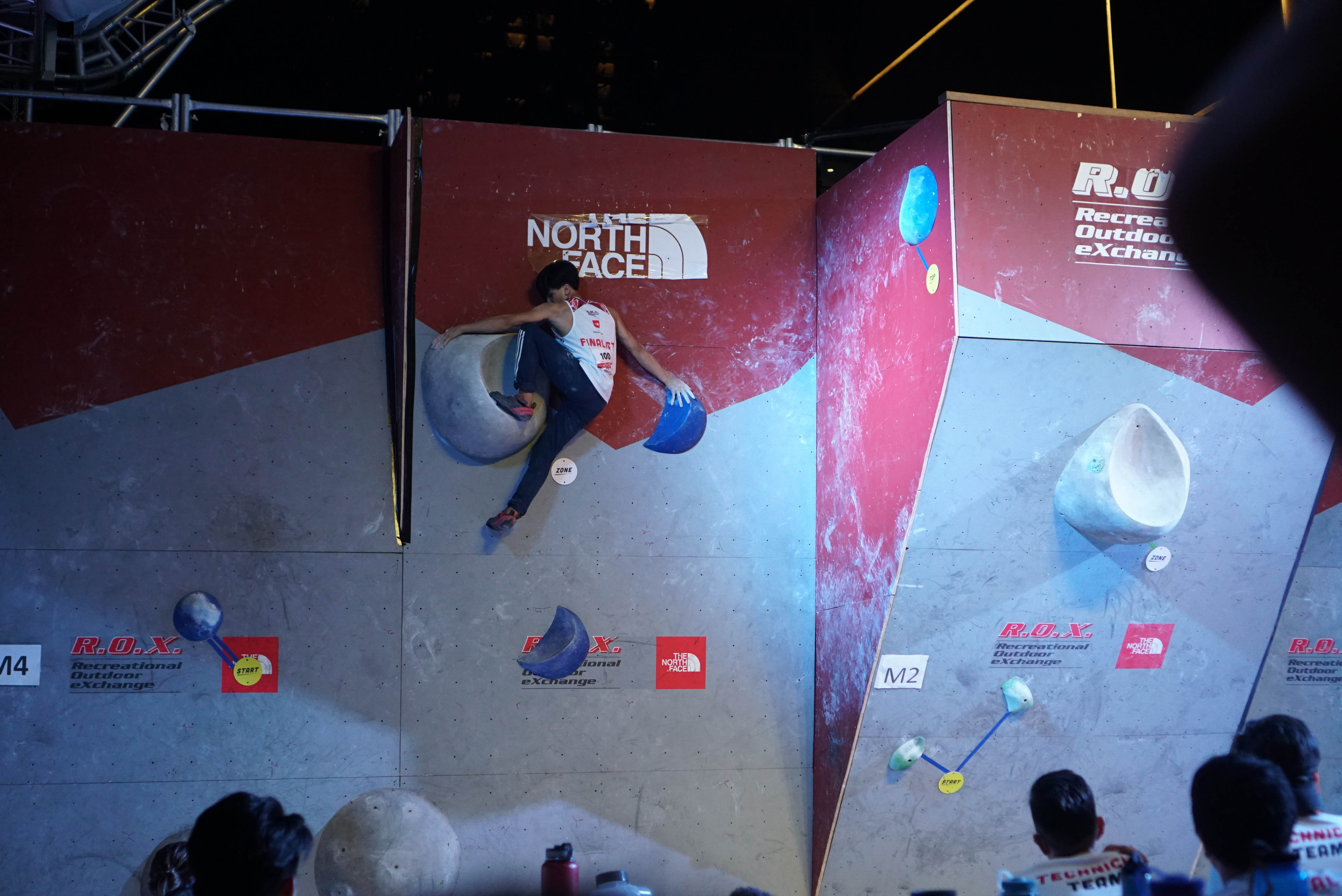 Gerald Verosil (PH), men's open finals, 2018 Zero Gravity International Bouldering Competition